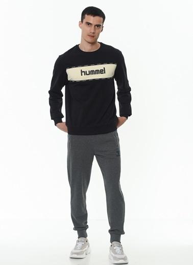 Hummel Hummel 9210442001 Melamous Marka Logolu Erkek Sweatshirt Siyah